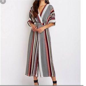 Charlotte Russe striped jumpsuit size XS